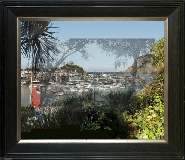 Ilfracombe Harbour framed 615x530 Dave Green
