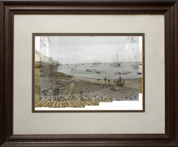 Still on the Beach framed 615x510 Dave Green