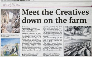 Article In North Devon Journal