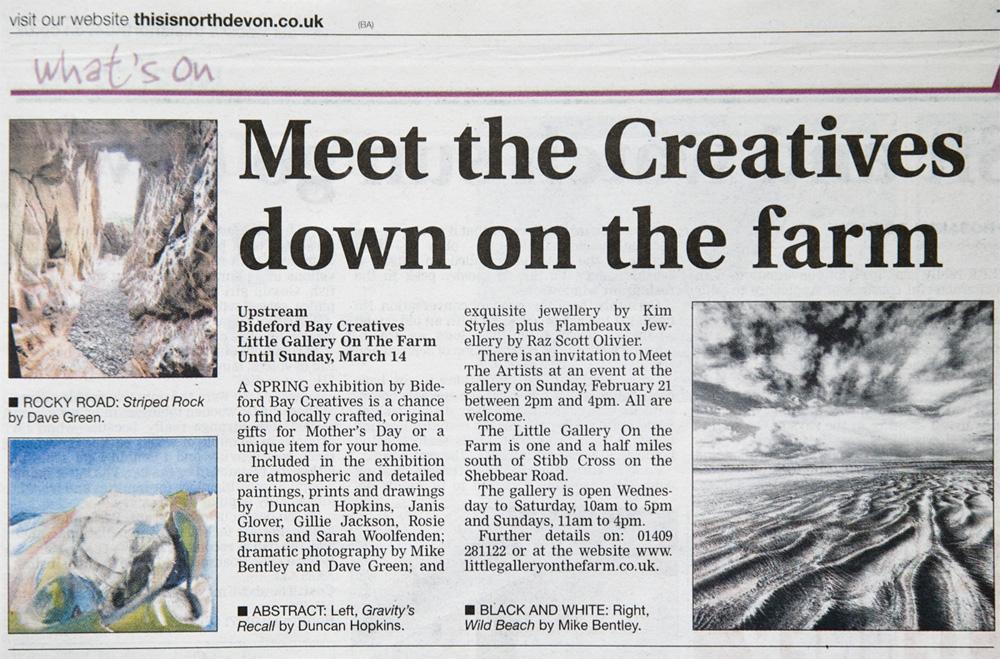 Article In North Devon Journal