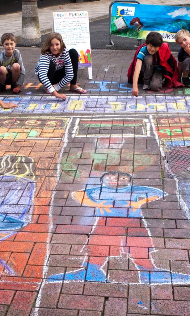 Kaz Hawkins Leads Chalk Art